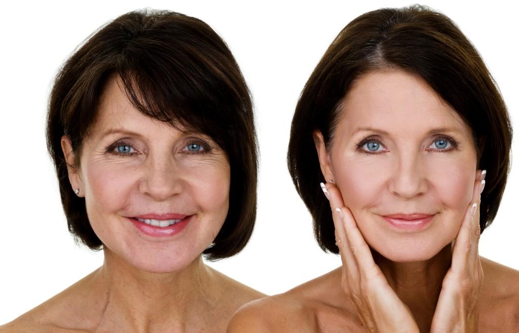 aging woman smooth skin